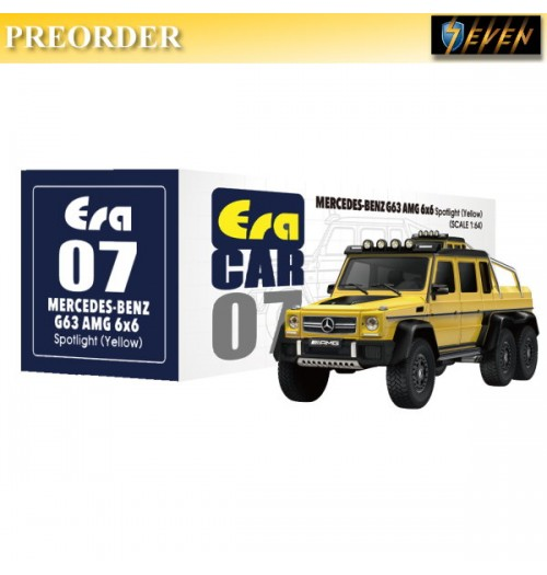 PREORDER: Era Car 1/64 Mercedes-Benz - G63 AMG 6X6 - Spotlight Yellow: Diecast Model Car